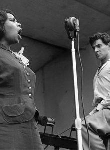 ASMP show Copyright Ruth Orkin – Marion Anderson and Leonard Bernstei, Lewisohn Stadium 1947